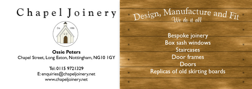 Chapel Joinery Business Cards