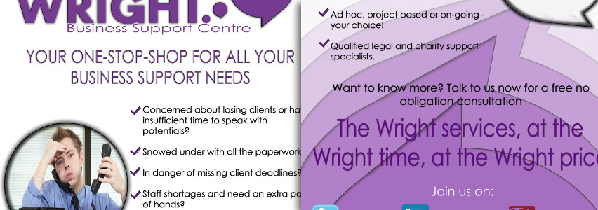 Wrights Leaflet Design